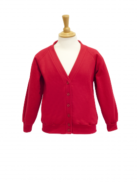 Cardigan; Colour plus; Acrylic Cotton Polyester; ACP; Schoolwear; School Uniform; Sweatshirt; Charles Kirk
